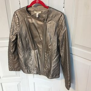 Chico's Pewter Moto Jacket